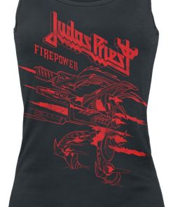 Judas Priest Firepower - One Colour Girl-Top schwarz