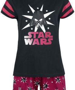 Star Wars Darth Vader - Stars Pyjama schwarz/rot