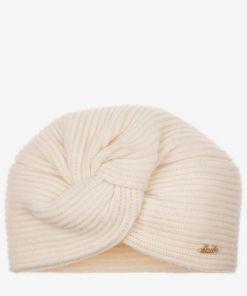 Mütze Mit Zierknoten WeiB