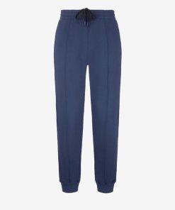 Jogginghose Aus Baumwollfleece Blau