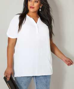 GroBe Größen Beige Oversized Bluse mit kurzen Ärmeln YC