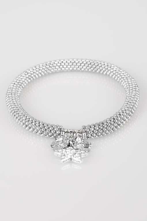 Silberne Armkette mit Sternanhänger YC