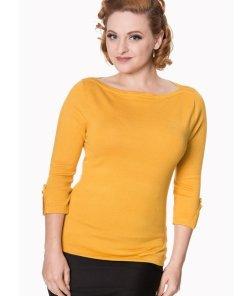 Banned Addicted Sweater Senfgelb