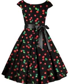 Cherry Circle Dress