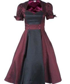 Contrast Swing Dress Black