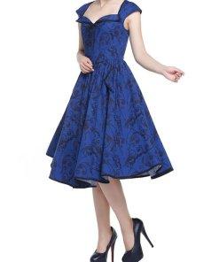 Diner Dress Blau Floral