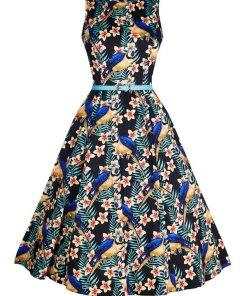 Hepburn Kleid Mesmerising Macaw
