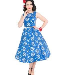 Hepburn Kleid Nautical