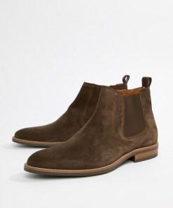 Tommy Hilfiger - Essential - Braune Chelsea-Stiefel aus Wildleder - Braun