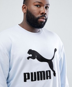 Puma Plus - Vintage-Sweatshirt mit Logo aus Frottee - Grau
