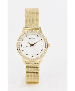 Guess - W0647L7 Chelsea - Uhr mit Netzarmband - Gold