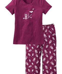 Capri Pyjama mit kurzen Ärmeln