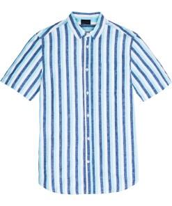 Kurzarm-Streifenhemd Regular Fit