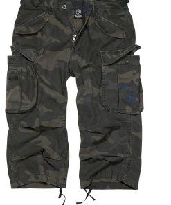 Brandit Industry Vintage 3/4 Vintage Shorts darkcamo
