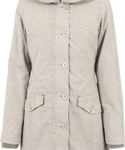 Urban Classics Ladies Garment Washed Long Parka Girl-Winter-Jacke sand