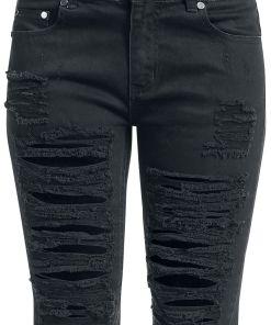 Fashion Victim Destroyed Shorts Girl-Shorts schwarz