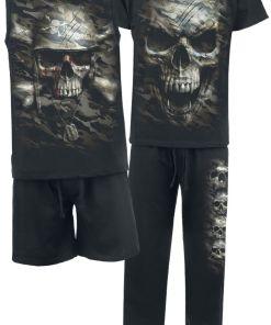 Spiral Camo Skull Pyjama schwarz