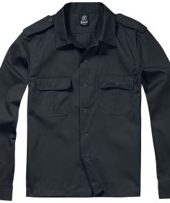 Brandit US Hemd langarm Hemd schwarz