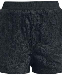 Fashion Victim Spitzen Shorts Girl-Shorts schwarz