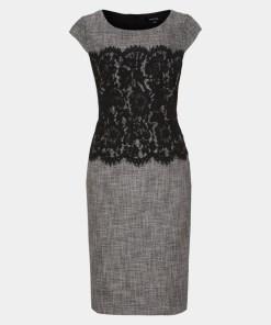 Abendkleid Grau/Schwarz 20