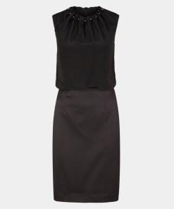 Abendkleid Grau/Schwarz 17