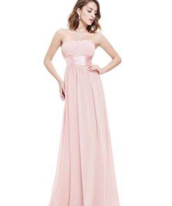 Ever Pretty Damen Empire Taille Schulterfrei Lange Abendkleider Brautjungfernkleid
