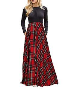 DAY8-Kleiden Damenrock Langärmliges Empire-Kleid für Damen mit Langen Ärmeln und Taschen Ärmellos-Unregelmässig-Cocktailkleider-Ballkleid