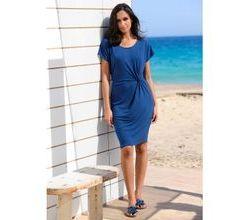 Damen Strandkleid Alba Moda Jeansblau