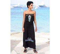 Damen Strandkleid Alba Moda schwarz