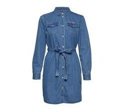 Tjw Denim Shirtdress Kleid Knielang Blau TOMMY JEANS