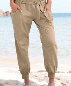 Buffalo Strandhose aus Leinen-Mix 144700