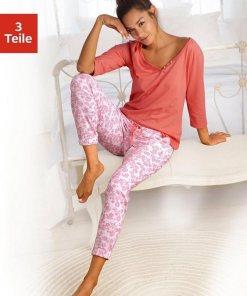 Vivance Dreams Pyjama, mit Blümchendruck 823018