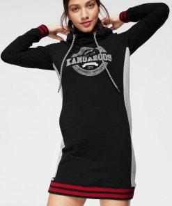 KangaROOS Sweatkleid mit Kapuze und festen Strickbündchen 92272149