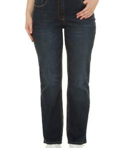 Ulla Popken Bootcut-Jeans, Wascheffekt, 5-Pocket-Form - Große Größen 714959