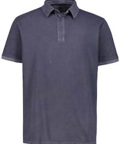 Ulla Popken Poloshirt, Piqué, garment dyed, Halbarm - Große Größen 715502