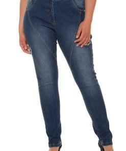 Ulla Popken Curvy-Jeans, Ziernähte, 5-Pocket-Form, Gürtelschlaufen - Große Größen 717285