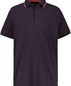Ulla Popken Poloshirt, Piqué mit Muster, Halbarm - Große Größen 720053