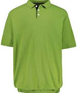 Ulla Popken Bauch-Poloshirt, elastischer Saum, bis Gr. 8XL - Große Größen 720125