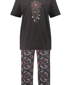 Ulla Popken Pyjama, Traumfänger-Motiv, bis Gr. 66/68 - Große Größen 720811