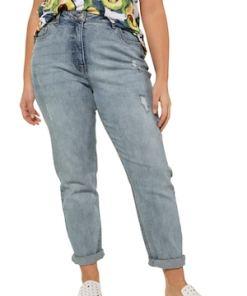 Ulla Popken Mom-Jeans, lässig weit, 5-Pocket - Große Größen 722838