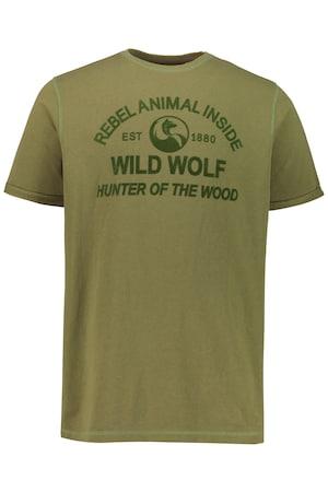 Ulla Popken T-Shirt, Wild Wolf, Halbarm - Große Größen 723257