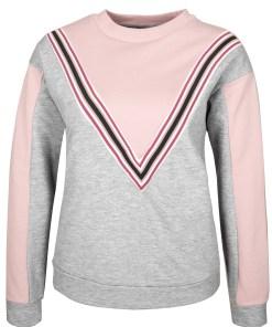 Sweatshirt mit V-Streifen D1089O01990A_light-grey_M
