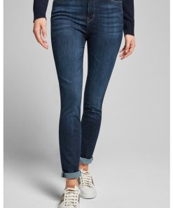 Highwaist Skinny-Jeans Siena in Dunkelblau