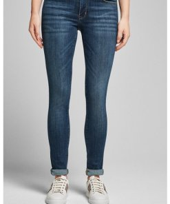Skinny-Jeans Sue in Washed Dunkelblau