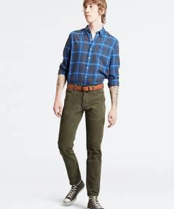 511™ Slim 5 Pocket Trousers - Grün / Olive Night Warp