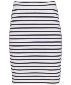 TOMMY JEANS Bleistiftrock »TJW PIPING BODYCON SKIRT« mit Tommy Jeans Logo-Piping an der Seite, weiß