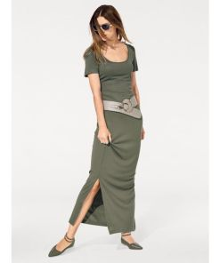 heine CASUAL Jerseykleid in Maxi-Länge