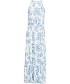 Maxikleid mit Gürtel ohne Ärmel in weiß für Damen von bonprix