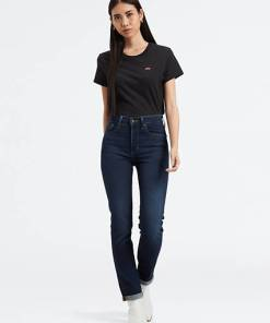 724™ High Waisted Straight Jeans - Dunkle Waschung / London Bridge