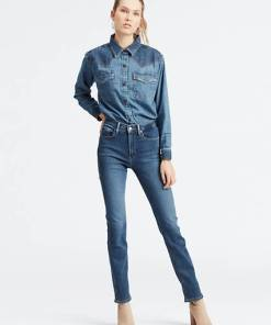 724™ High Waisted Straight Jeans - Mittlere Waschung / Paris Stroll